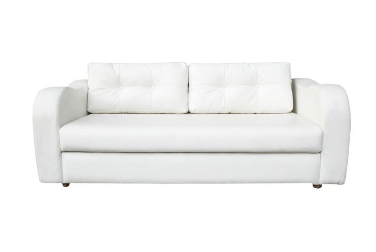 Armchair 2 seater white leather